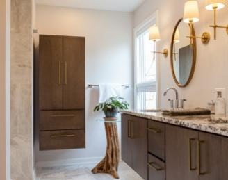 Lake Bluff Master Suite Bathrooms