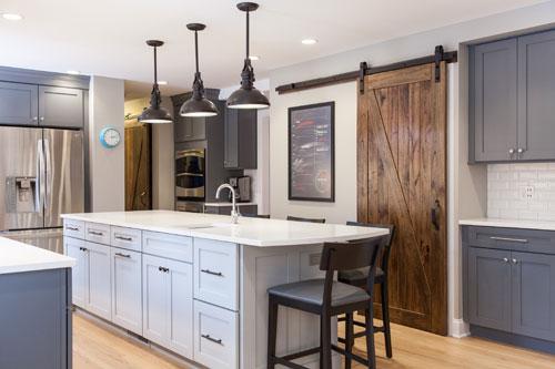Project Highlight: Elegant Grey and White Libertyville Kitchen Remodel